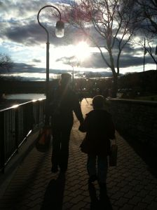 Riverwalk_Shelby and Ben at Sunset